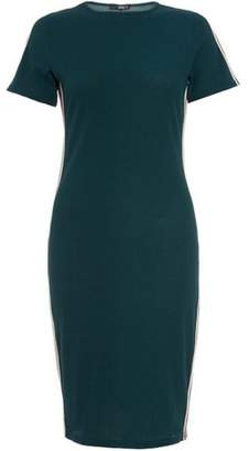 Dorothy Perkins Womens *Quiz Bottle Green Striped Bodycon Dress
