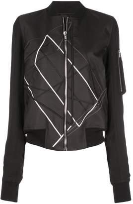 Rick Owens zipped up bomber jacket