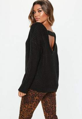 Missguided Tab Back Knitted Jumper