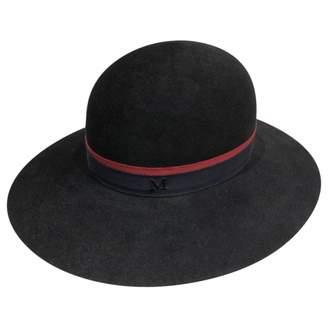 Maison Michel Black Wool Hats