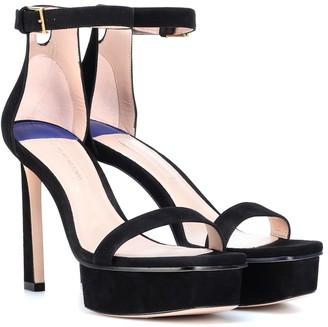 Stuart Weitzman Disco suede sandals