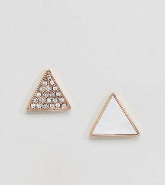 Emporio Armani Triangle Stud Set Earrings
