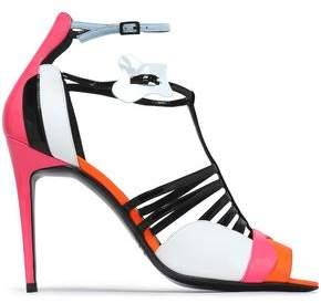Pierre Hardy Woman Printed Suede Sandals Black Size 40 Pierre Hardy MrUI0bqtg