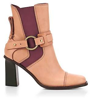 See by Chloe Women's Alexis Square-Toe Leather Ankle Boots