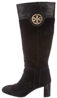 Tory Burch Suede High-Heel Boots