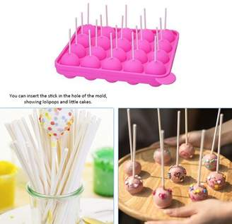 Lintimes 20 Silicone Lollipop Candy Mould Cupcake Baking Molds