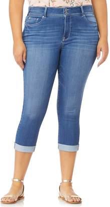 2e96a353a Wallflower Juniors  Plus Size WallFlower Ultra Skinny Rolled Cuff Crop Jeans