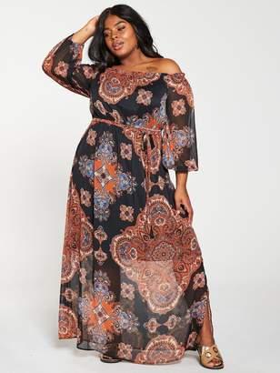 faaf2e7f9e4f6 Bardot V By Very Curve V by Very Curve Maxi Dress -Paisley Print