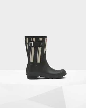 Hunter Women's Original Garden Stripe Short Rain Boots