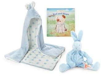 Bunnies by the Bay Hooded Blanket, Stuffed Animal & Board Book Set