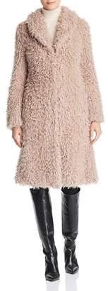 Unreal Fur De La Cream Faux Shearling Coat
