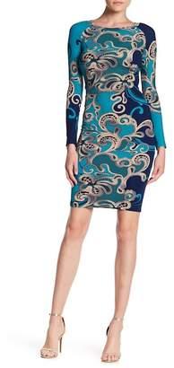 LILA KASS Long Sleeve Print Dress