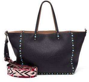 Valentino Guitar-Strap Rockstud Medium Reversible Leather Tote $4,275 thestylecure.com