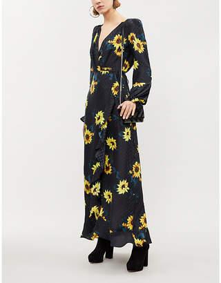 The Kooples Floral-print silk-crepe maxi dress