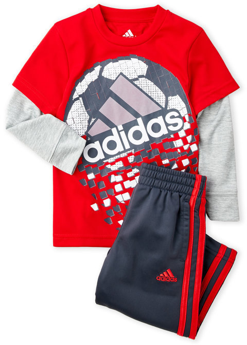 adidas (Toddler Boys) Two-Piece Game Shattering Tee & Pants Set