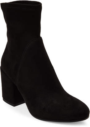 Gabriella Black Suede Block Heel Ankle Boots