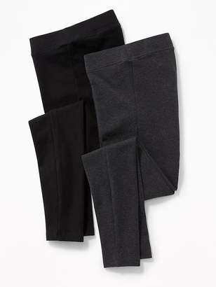65f8e6e811a47 Old Navy Maternity Front-Low Panel Leggings 2-Pack