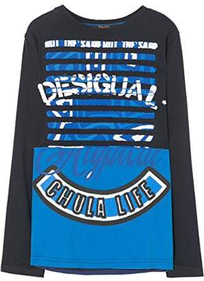 Desigual Boy's TS_Tomas Long Sleeve Top,(Manufacturer Size: 5/6)
