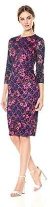 Kensie Dress Women's MIDI Floral LACE