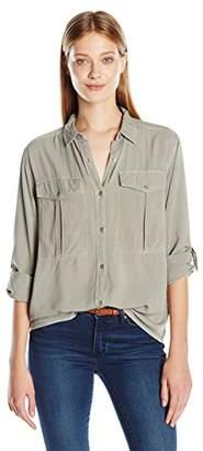 Calvin Klein Women's Long Sleeve Utility Shirt