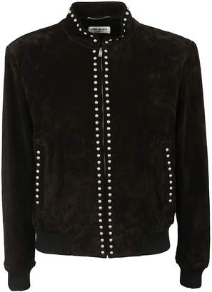 Saint Laurent Studded Bomber