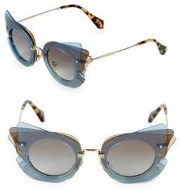 Miu Miu 63MM Round Aviator Sunglasses