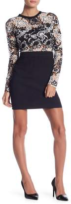 Romeo & Juliet Couture Lace Overlay Long Sleeve Dress