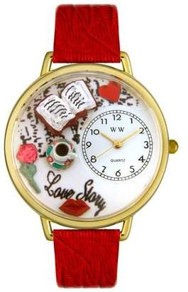 Whimsical Watches Women's G0460003 Love Story Red Leather Watch