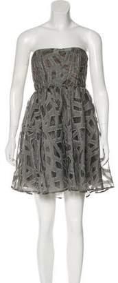 Alice + Olivia Wool Blend Mini Dress