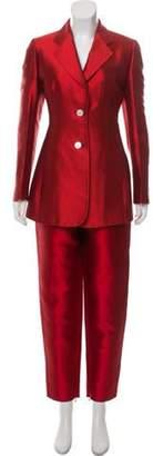 Dolce & Gabbana Silk Structured Pantsuit Silk Structured Pantsuit
