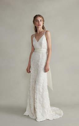 Markarian Aurelia Cami V-Neck Lace Gown
