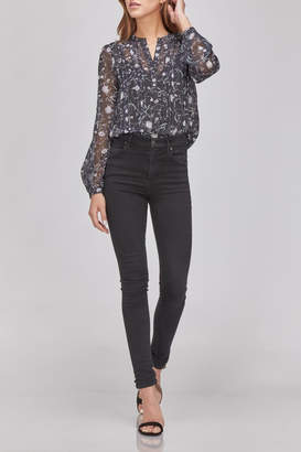 Greylin Floral Button-Up Blouse