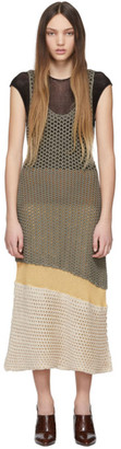 Chloé Brown Mesh Knit Dress