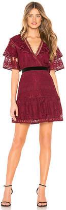 J.o.a. Ruffled Sleeves Lace Dress