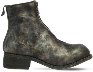 Pl1 Zipped Full Grain Leather Boots