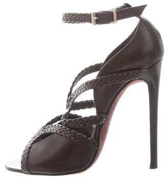 Tom Ford Leather Multistrap Sandals