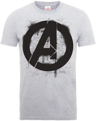 Marvel Avengers Assemble Logo Stencil T-Shirt