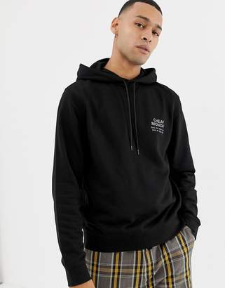 Cheap Monday Hoodie In Black With Logo Print