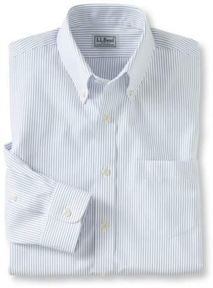 L.L. Bean L.L.Bean Wrinkle-Free Pinpoint Oxford Cloth Shirt, Slim Fit Stripe