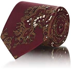 Fairfax Men's Abstract-Paisley Silk Faille Necktie - Red