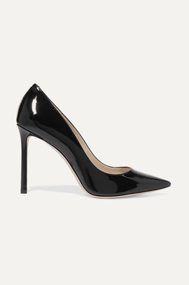 Jimmy Choo Romy 100 Patent-leather Pumps - Black