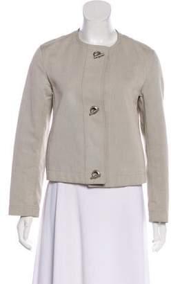 Hermes 2001 Leather-Trimmed Textured Jacket