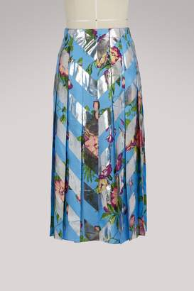 Gucci Bouquet d'Aout pleated skirt