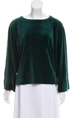 DKNY Velour Long Sleeve Sweatshirt