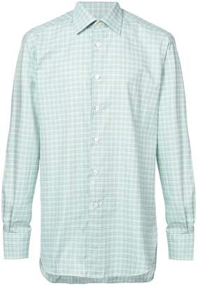 Kiton checked long sleeved shirt