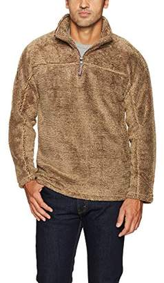 True Grit Men's Luxe Ultra Soft Fleece Mini Stripe 1/4 Zip Pullover
