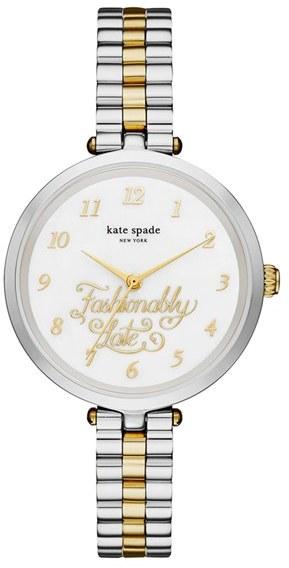 Kate SpadeWomen's Kate Spade New York Holland Fashionably Late Bracelet Watch, 34Mm