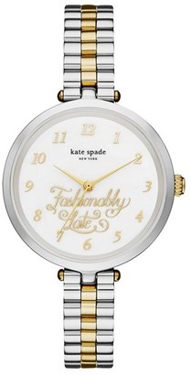 KATE SPADE new york holland fashionably late bracelet watch, 34mm $225 thestylecure.com