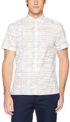 Perry Ellis Men's Short Sleeve Geo Print Shirt-j