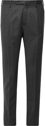 Incotex Urban Traveller Charcoal Slim-Fit Tech Wool-Blend Flannel Trousers - Men - Gray